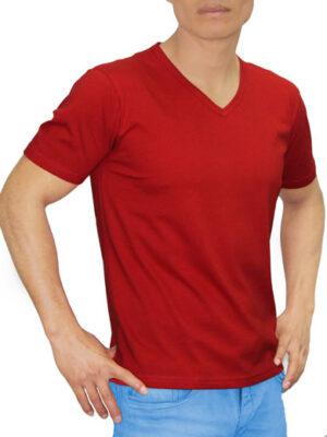 Polo Cuello V Rojo