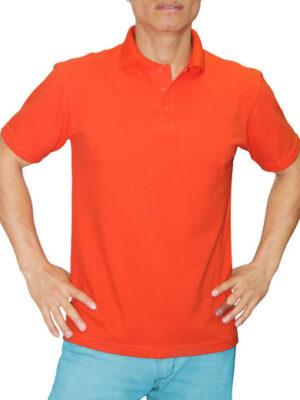 Polo Cuello Camisero Naranja