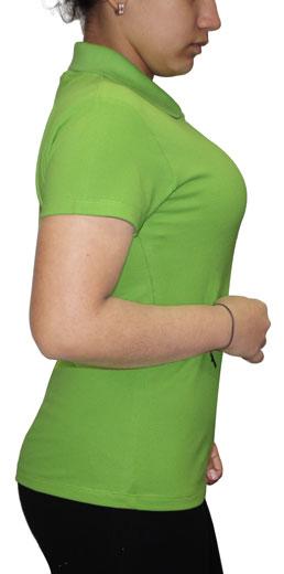 Polo Verde Limón Cuello Camisero