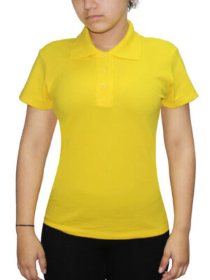 Polo Amarillo Brasil Cuello Camisero