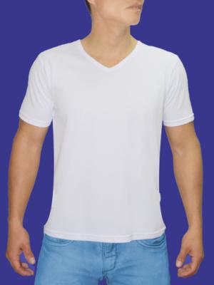 Polo Cuello V Blanco