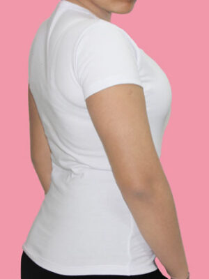 Polo Dama Cuello V Blanco