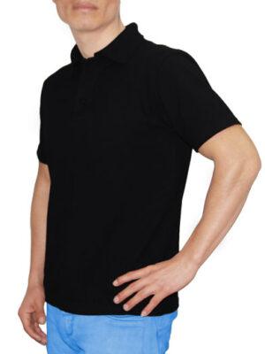 Polo Cuello Camisero Negro