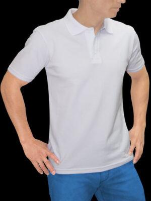 Polo Cuello Camisero Blanco