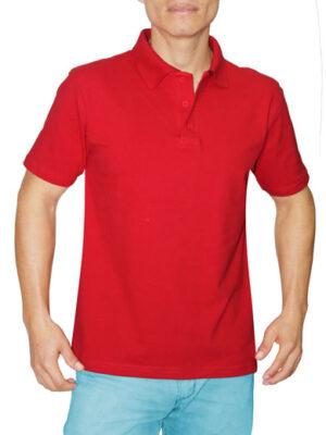 Polo Cuello Camisero Rojo